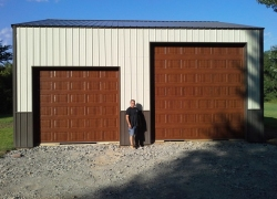 Amarr classic steel brown garage door