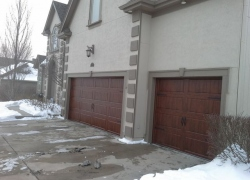 Left angle of new garage door