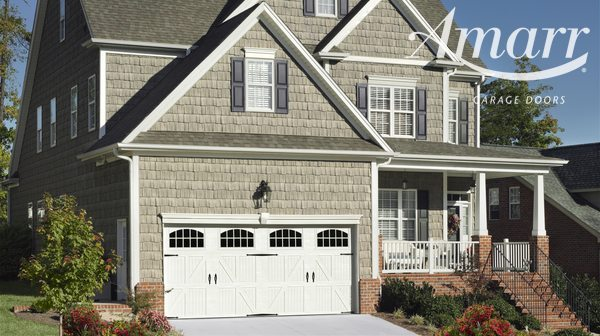 Armarr - Lucern style two car white garage door
