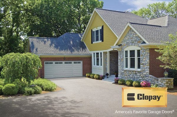 Clopay - Simple white two car garage door
