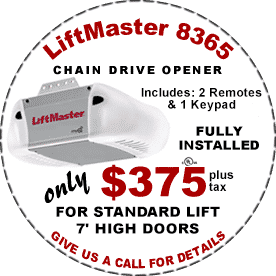 Liftmaster 8365 Garage Door Opener Fully Installed Coupon