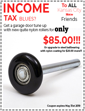 New garage door tune ups with nylon rollers coupon