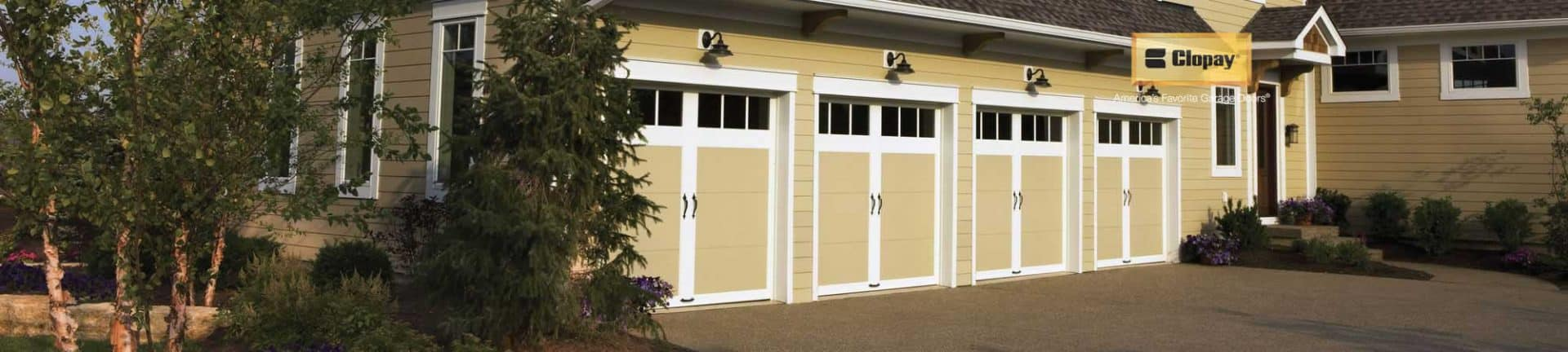 Four Clopay Garage Doors for a residential home installed